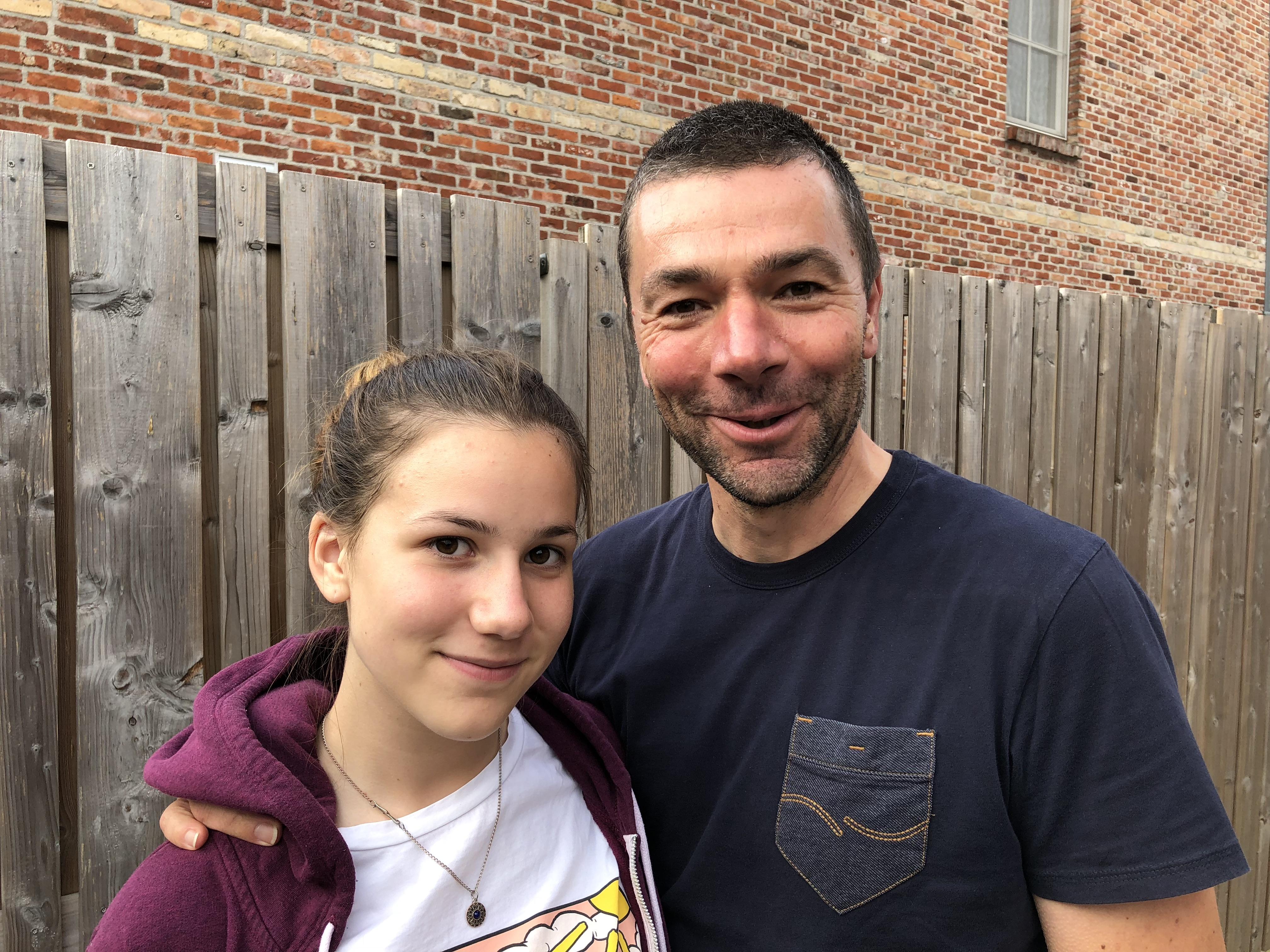 Vader en dochter op Tiense feestdag