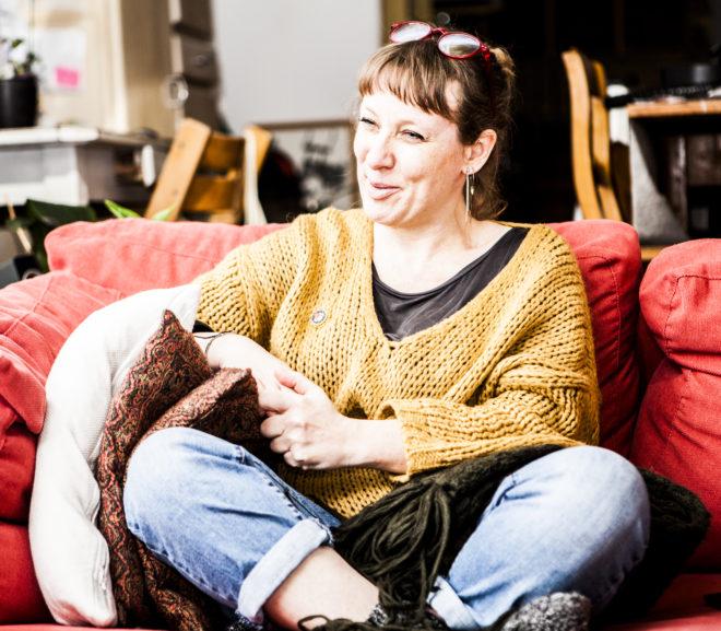 Guerilla gardener Elke Devijver hoopt te oogsten wat ze zaait